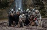 Gruppenfoto 2013 in Montur und mit Masken